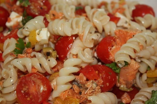 Фото макарон с овощами
