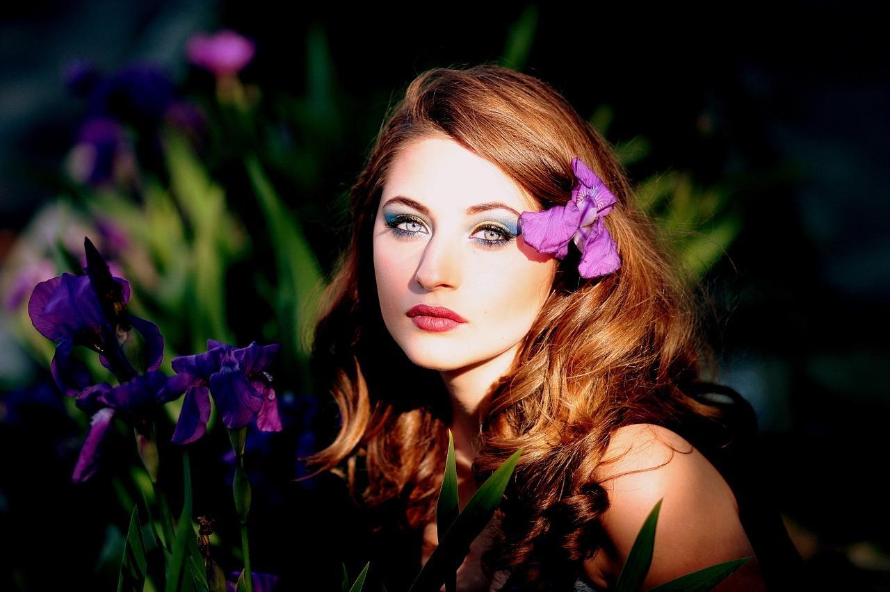 Красиво накрашенные женские глаза