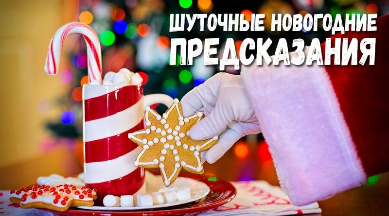 Короткие и смешные шуточные предсказания на будущее для гостей на новый год рождество праздники