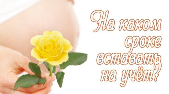 Беременная с желтой розой
