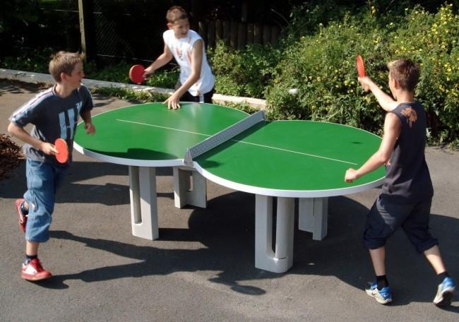 Теннисный стол нестандартной формы