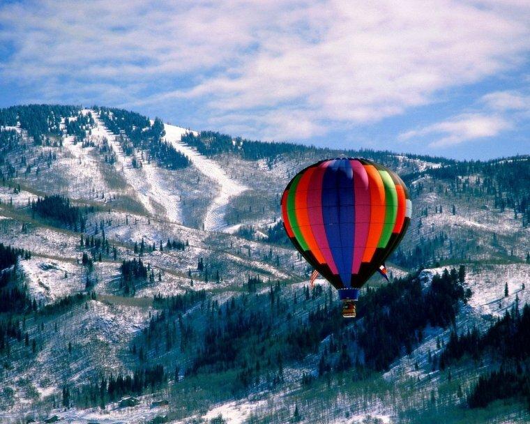 Полет на воздушном шаре для мужа