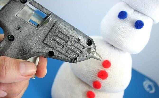 снеговик из носка Декорирование