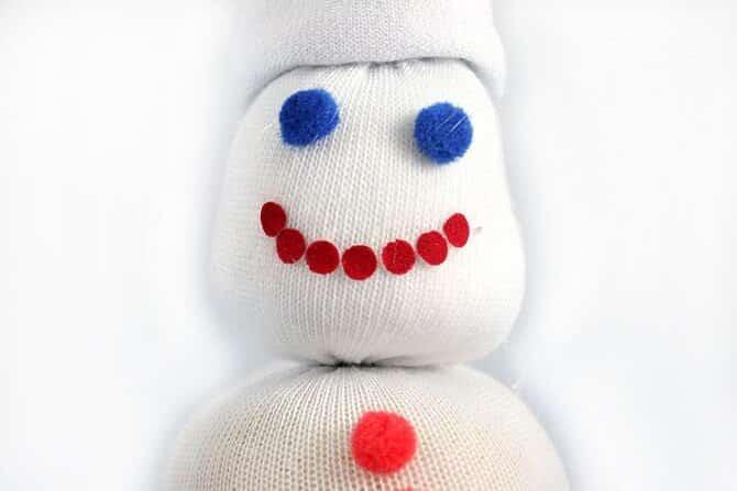 снеговик из носка Рот