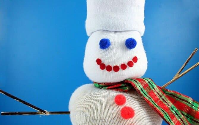 снеговик из носка Руки