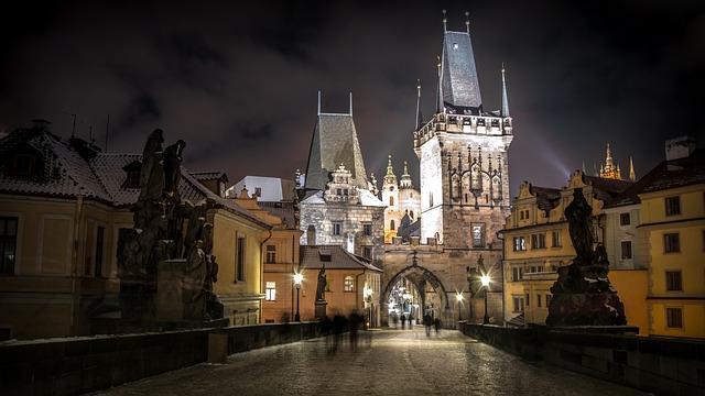 Фото зимней Праги