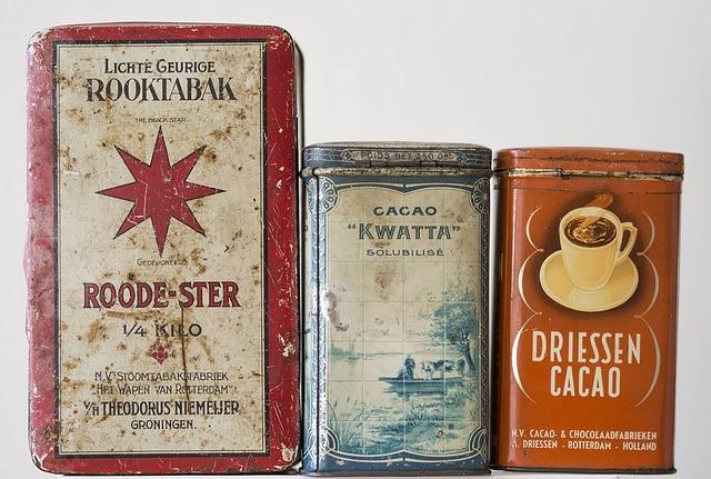 Коллекционные банки из под какао