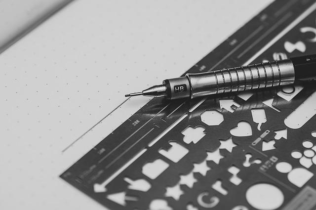 Линейка и карандаш для цифр