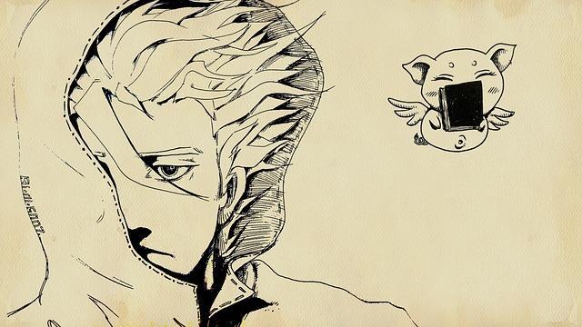 Рисунок человека в стиле манга