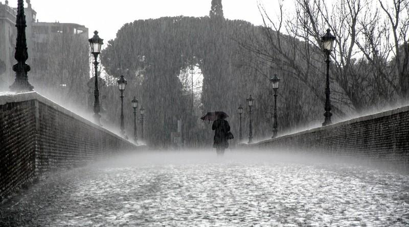 Фото интроверта под дождем