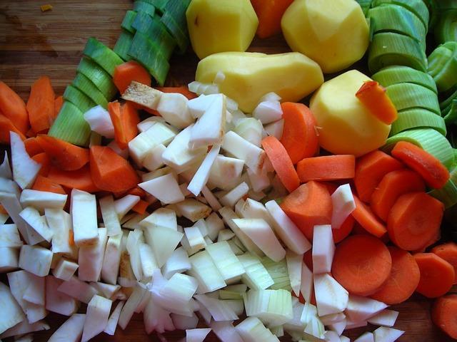 Фото ингредиентов для овощного бульона