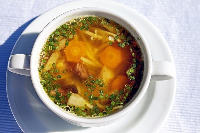 Суп с овощами и курицей