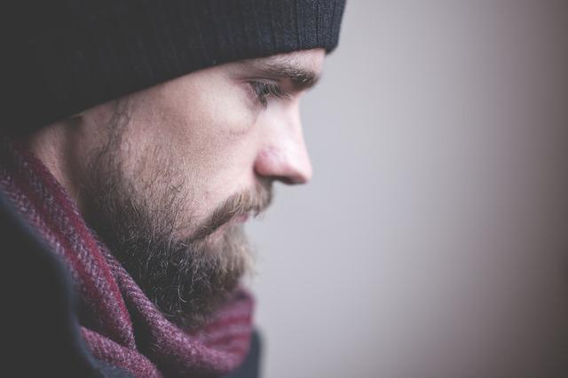 Густая борода у мужчины