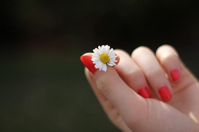Фото красных ногтей