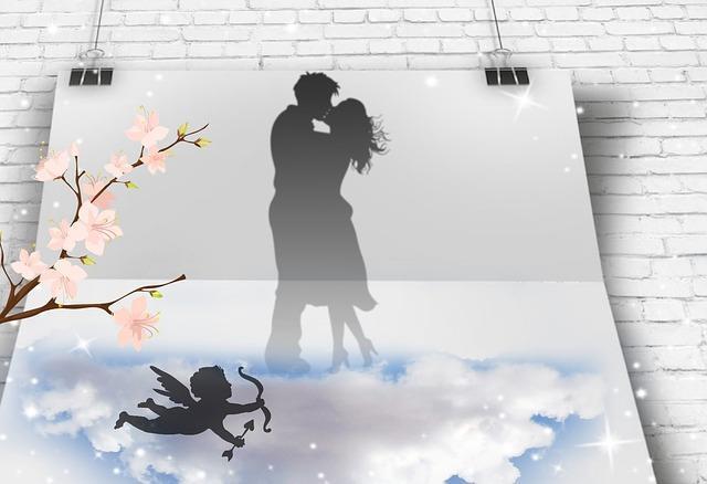 Открытка с влюбленной парой