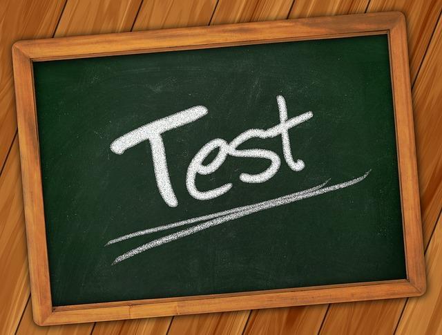 Надпись Test на школьной доске