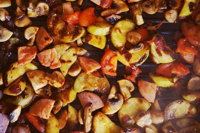 Рагу из овощей на гриле