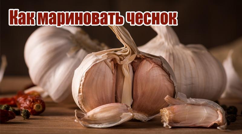 Как мариновать чеснок и чесночные стрелки на зиму