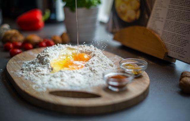 Мука с яйцами без молока