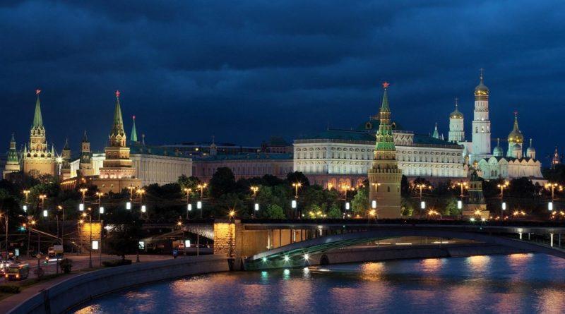Фото вечернего Кремля