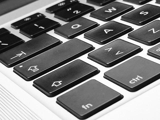Клавиатура компьютера Macbook