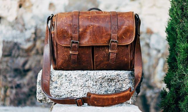 Мужская коричневая сумка